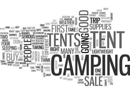 TENTS FOR SALE Text Background Word Cloud Concept