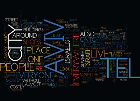 TEL AVIV Text Background Word Cloud Concept