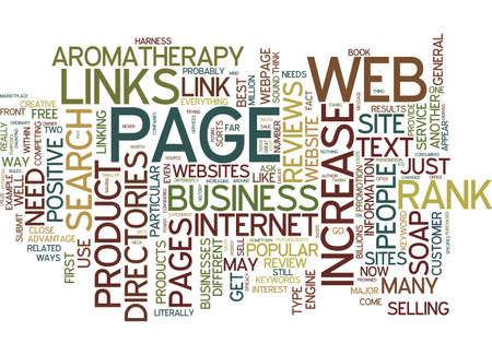 TEXT LINKS AND PAGE RANK Text Background Word Cloud Concept