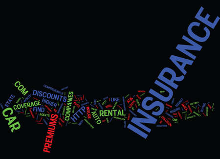 TEN GOLDEN RULES TO SAVE ON AUTO INSURANCE Text Background Word Cloud Concept