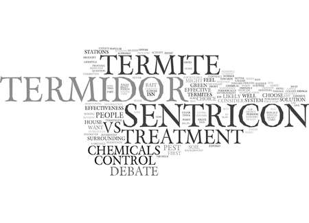 TERMIDOR TERMITE TREATMENT VS Text Background Word Cloud Concept