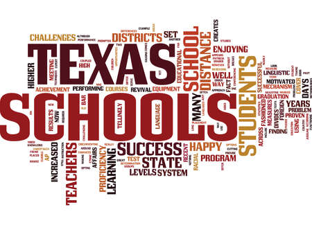 TEXAS SCHOOLS SET AN EXAMPLE Text Background Word Cloud Concept