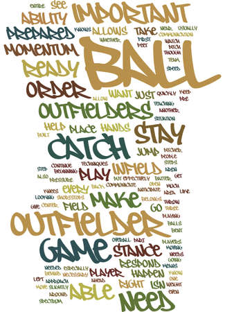 TECHNIQUES FOR THE OUTFIELDER Text Background Word Cloud Concept