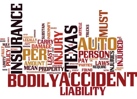 TEXAS AUTO INSURANCE CONSUMERS GUIDE Text Background Word Cloud Concept