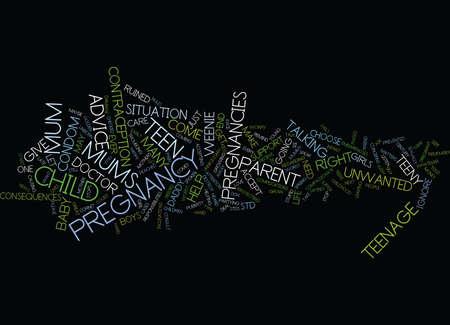 TEENY WEENIE PREGNANCIES Text Background Word Cloud Concept Illustration