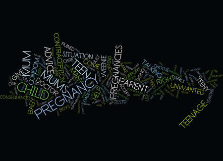 TEENY WEENIE PREGNANCIES Text Background Word Cloud Concept Ilustracja
