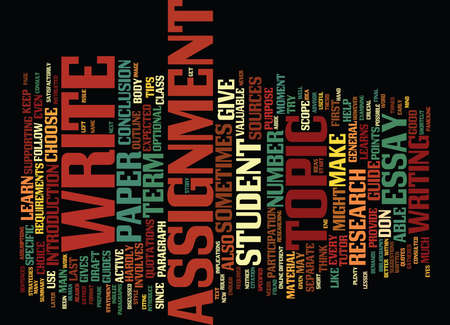 enables: TERM PAPER GUIDE Text Background Word Cloud Concept