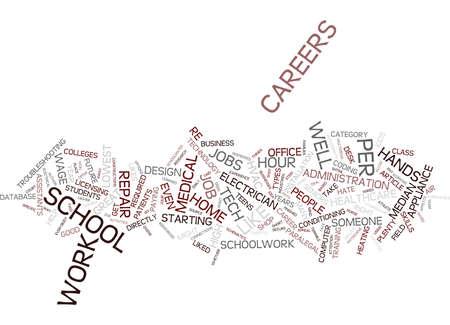 高校学校テキストを憎む者のための 10 のキャリアの背景単語雲の概念