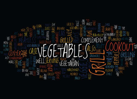 TH OF JULY COOKOUT Text Background Word Cloud Concept