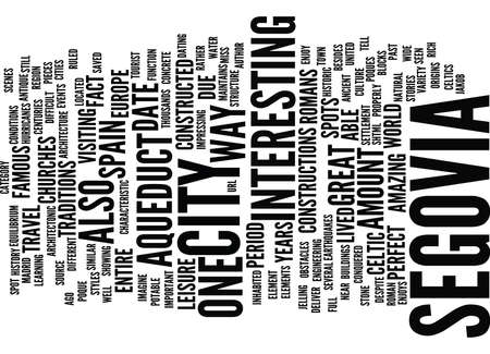 THE ANCIENT CITY OF SEGOVIA Text Background Word Cloud Concept