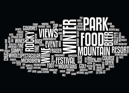 TH ANNUAL ROCKY MOUNTAIN WINE BEER FOOD FESTIVAL Text Background Word Cloud Concept