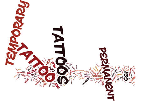 TEMPORARY TATTOOS Text Background Word Cloud Concept