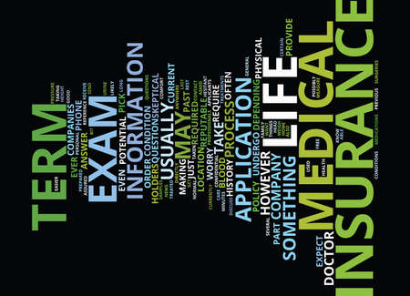TERM LIFE INSURANCE WITH ACCIDENTAL DEATH AND DISMEMBERMENT RIDER Text Background Word Cloud Concept