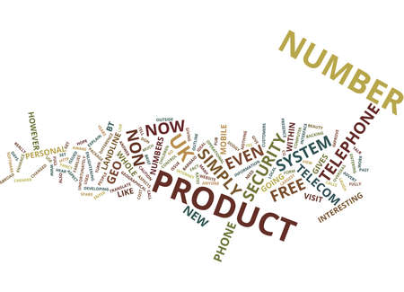 TELECOM PRODUCT WITH A DIFFERENCE Text Background Word Cloud Concept