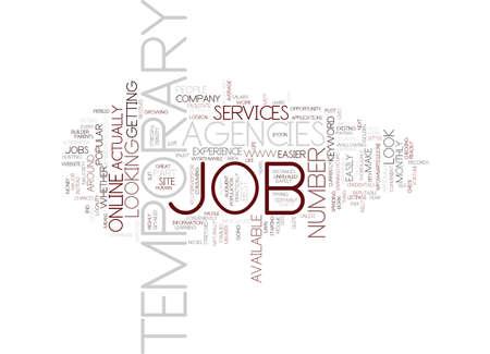 TEMPORARY JOB AGENCIES Text Background Word Cloud Concept Иллюстрация