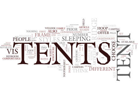 TENT STYLES Text Background Word Cloud Concept Çizim