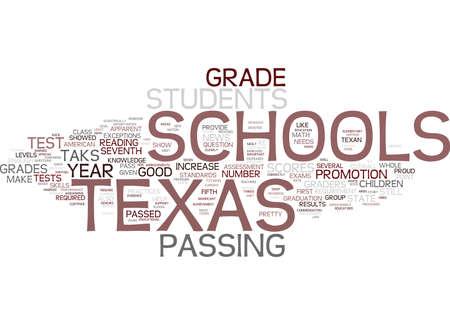 テキサス州の学校の地図 TAKS テキスト背景単語クラウドの概念はいくつかの重要な利益