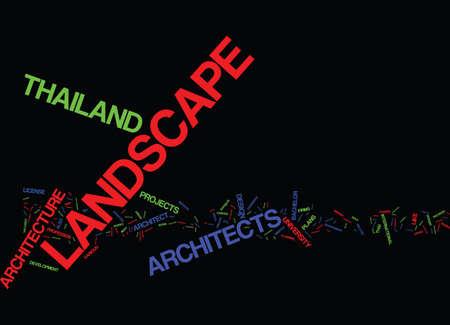 タイのランドスケープアーキテクト テキスト背景単語雲概念  イラスト・ベクター素材