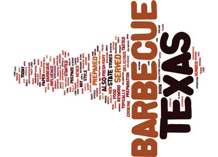 meats: TEXAS BARBECUE Text Background Word Cloud Concept