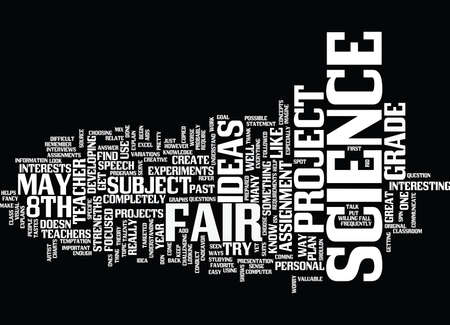 TH GRADE SCIENCE FAIR PROJECT IDEAS Text Background Word Cloud Concept