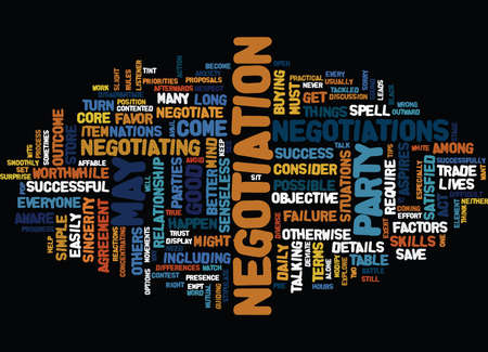 TEN TIPS TO NEGOTIATE SUCCESSFULLY Text Background Word Cloud Concept