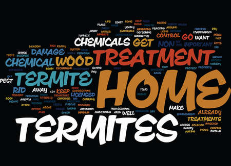 TERMITE HOME TREATMENT Text Background Word Cloud Concept