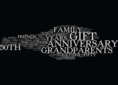 ANNIVERSARY GIFT Text Background Word Cloud Concept