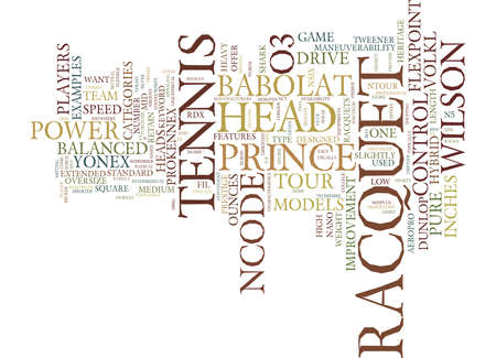 TENNIS RACQUET Text Background Word Cloud Concept