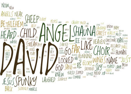 THE ANGEL CHILD Text Background Word Cloud Concept