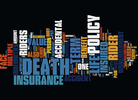 TERM LIFE INSURANCE VS BANK MORTGAGE INSURANCE Text Background Word Cloud Concept Ilustrace