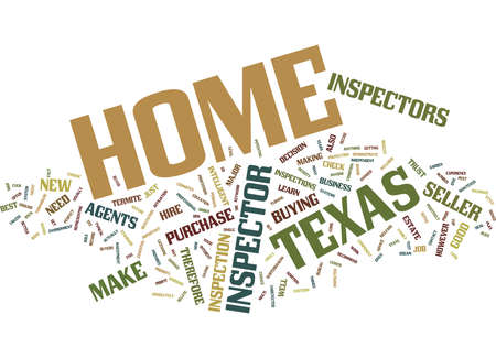 TEXAS HOME INSPECTOR Text Background Word Cloud Concept Illustration