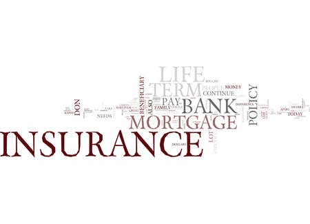 TERM LIFE INSURANCE Text Background Word Cloud Concept