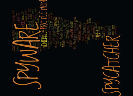 TENEBRIL SPYCATCHER REVIEW Text Background Word Cloud Concept