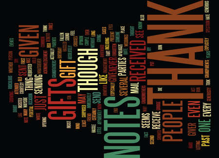 THANK YOU NOTES Text Background Word Cloud Concept