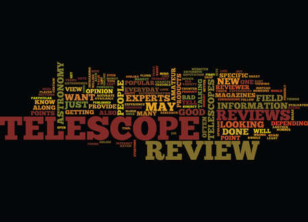TELESCOPE REVIEW Text Background Word Cloud Concept
