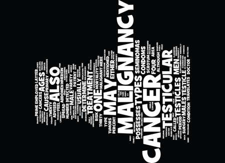 testicles: TESTICULAR CANCER Text Background Word Cloud Concept