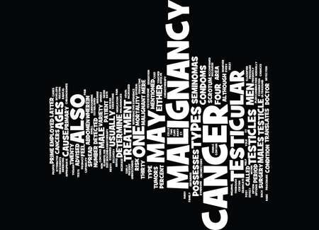 testicular: TESTICULAR CANCER Text Background Word Cloud Concept
