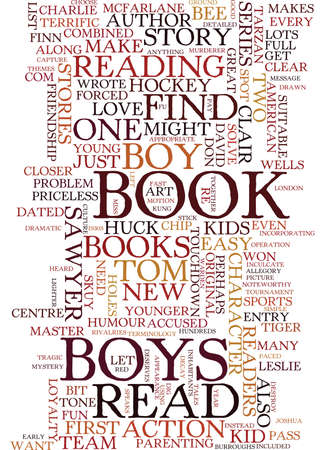 TEN BOOKS EVERY BOY S GOTTA READ Text Background Word Cloud Concept