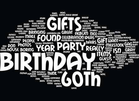 gift basket: TH BIRTHDAY GIFTS Text Background Word Cloud Concept