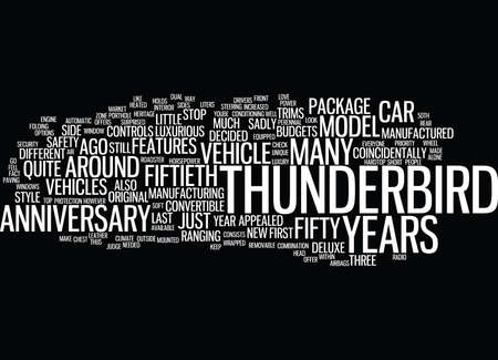 thunderbird: TH ANNIVERSARY Text Background Word Cloud Concept