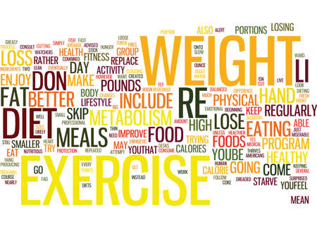 THE COMBINED BENEFITS OF DIET AND EXERCISE Text Background Word Cloud Concept