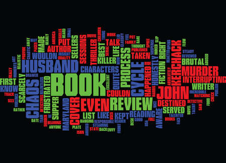 THE CHAOS CYCLE BOOK REVIEW Text Background Word Cloud Concept Ilustração