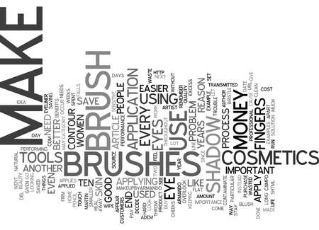 THE BENEFITS OF BRUSHES Text Background Word Cloud Concept