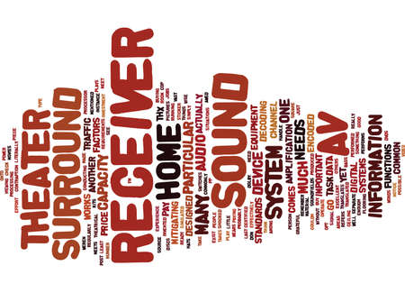 THE AV RECEIVER Text Background Word Cloud Concept Çizim