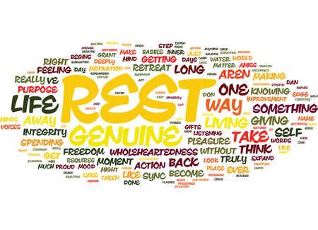 THE ART OF REST Text Background Word Cloud Concept Illusztráció