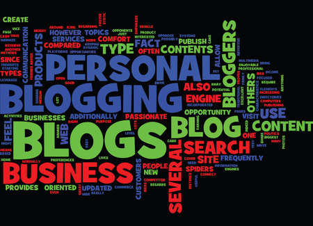 THE BENEFITS OF THE BLOG TYPES Text Background Word Cloud Concept Illustration