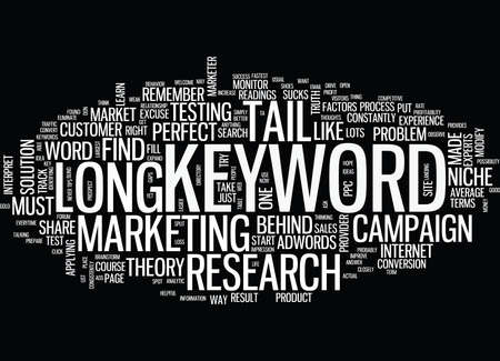 THE BLIND SPOT OF LONG TAIL KEYWORD Text Background Word Cloud Concept