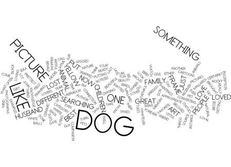 THE ARTFUL DOG SHOPPER Text Background Word Cloud Concept Vector Illustration