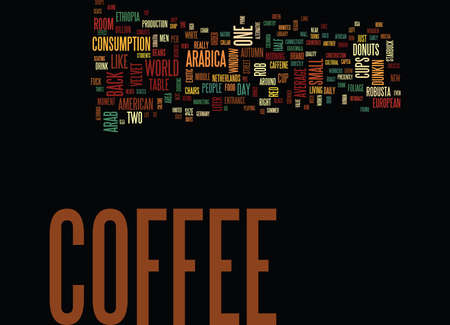 capita: THE COFFEE CULTURE IN THE USA Text Background Word Cloud Concept