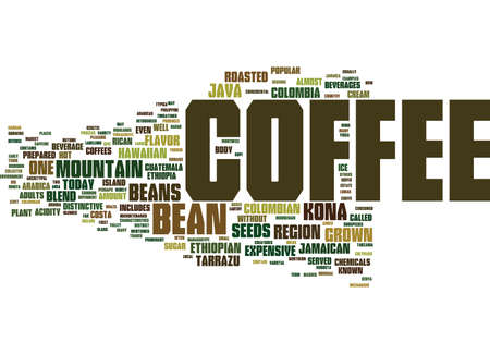 THE COFFEE BEAN Text Background Word Cloud Concept
